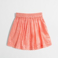 Factory girls' heart skort