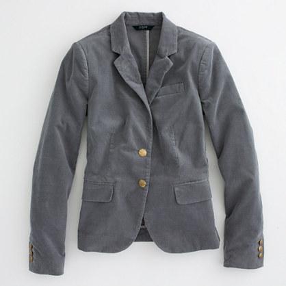 Factory corduroy schoolboy blazer