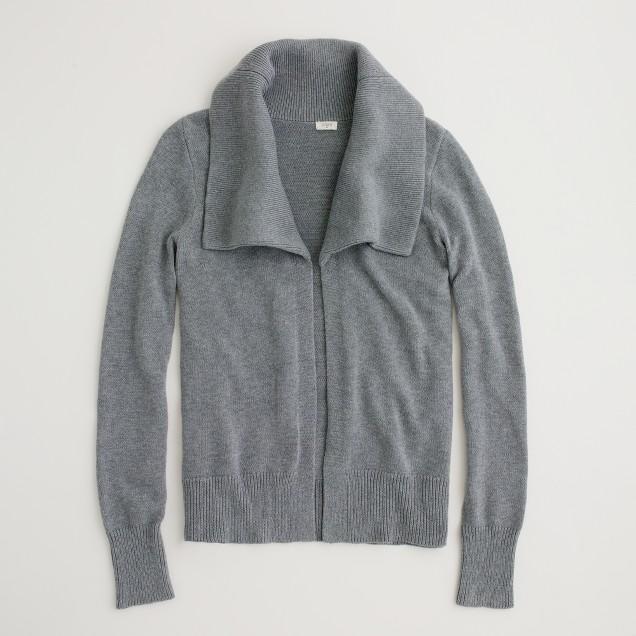Factory open shawl-collar cardigan