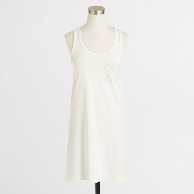 Factory ringspun cotton tank dress