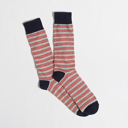 Triple narrow-striped socks