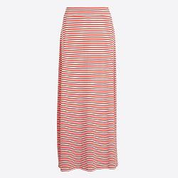Striped knit maxi skirt