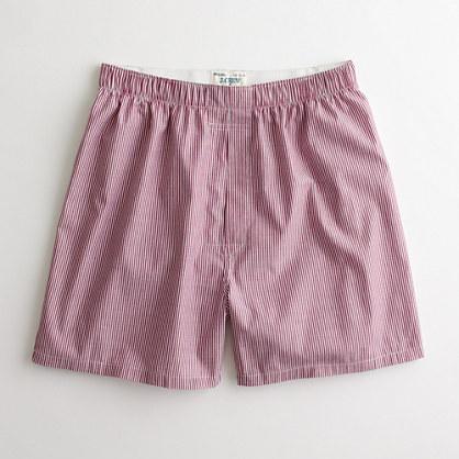 Factory banker-stripe boxers