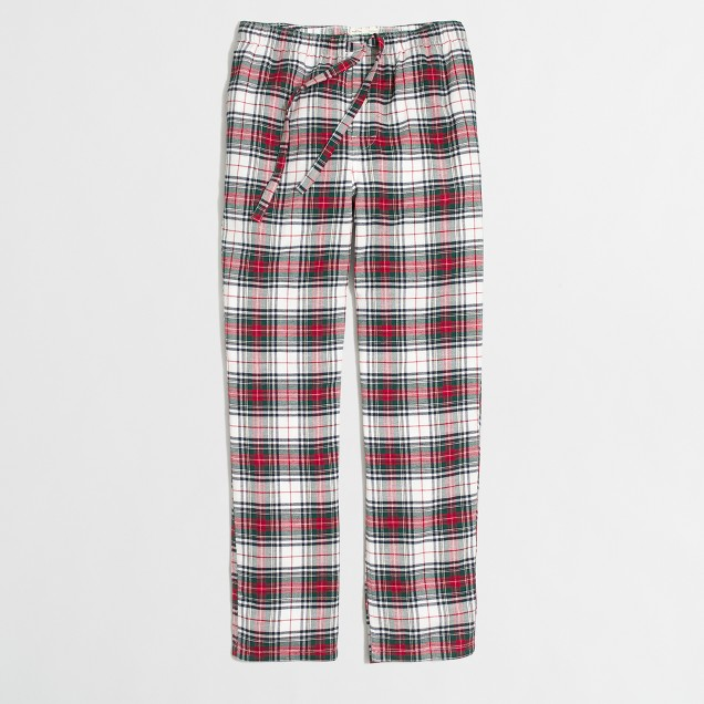 Plaid flannel pajama pant