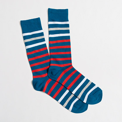 Contrast-stripe socks