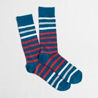 Contrast-stripe socks