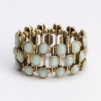 Factory crystallized elastic bracelet