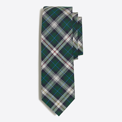 Heathered plaid tie