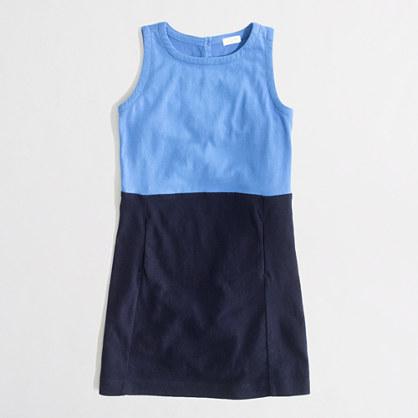 Factory girls' colorblock pocket dress