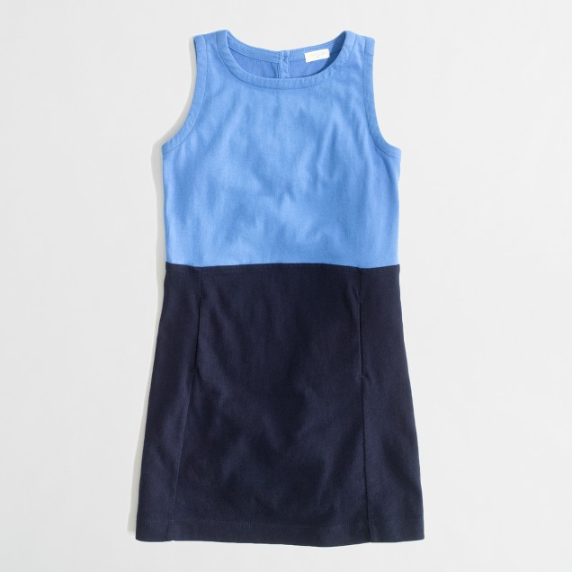 Factory girls' colorblock pocket dress