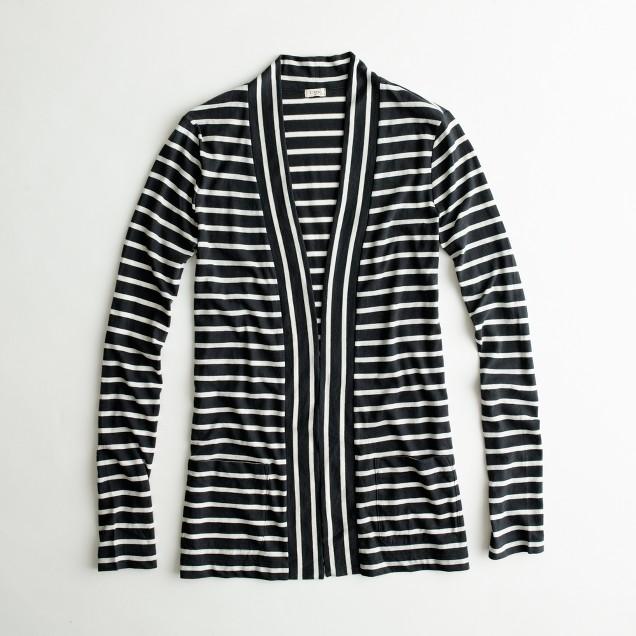 Factory stripe pocket always cardigan