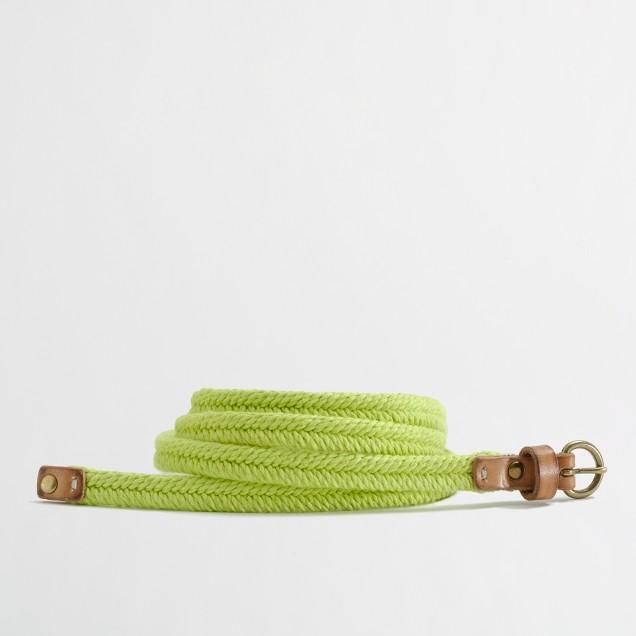 Factory skinny fishtail braid belt