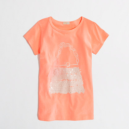 Factory girls' flower purse keepsake tee