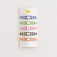 Factory girls' multistripe hair clips