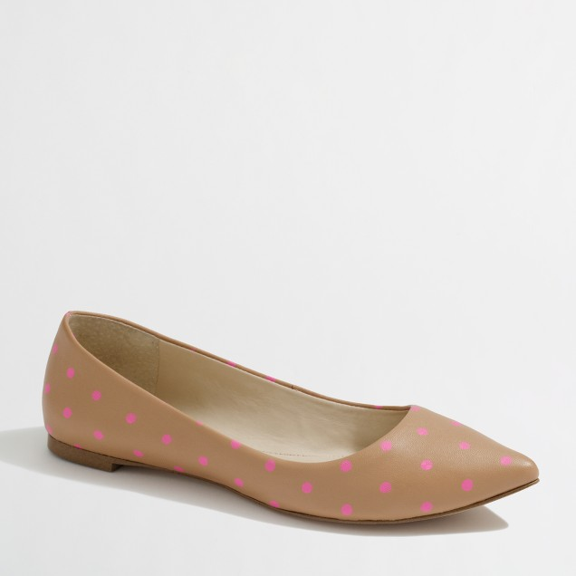 Factory Emery flats in polka dot