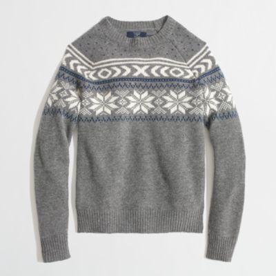 Factory lambswool snowflake Fair Isle sweater : | Factory
