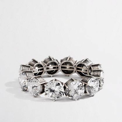 Factory stretch large crystal bracelet