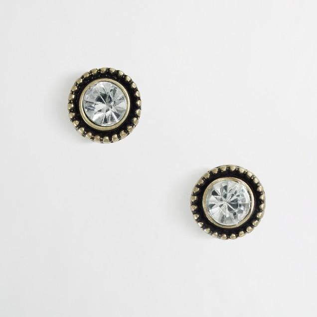 Factory crystal pinball stud earrings