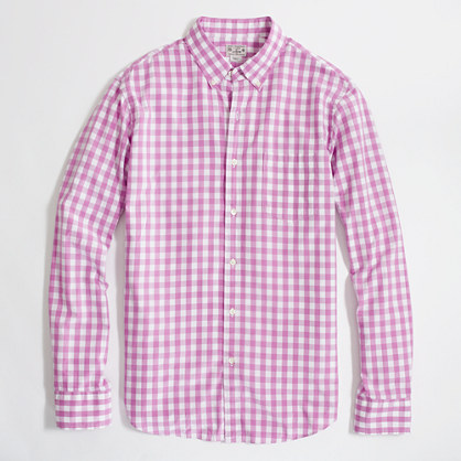 Factory washed shirt in medium gingham