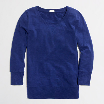 Factory garment-dyed sweatshirt