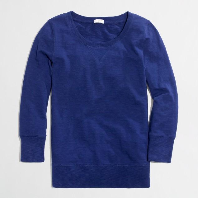 Factory garment-dyed sweatshirt
