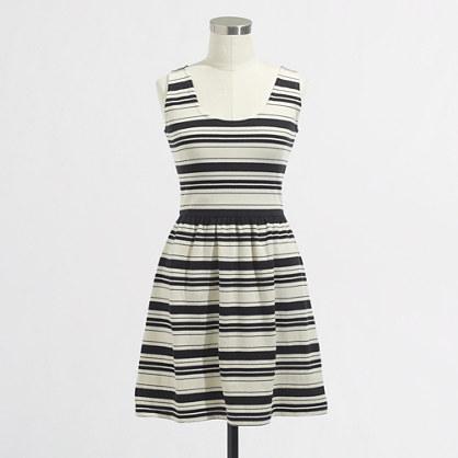 Factory stripe button-back sundress