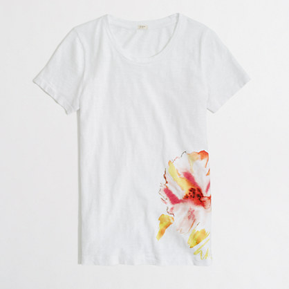 Factory painted bloom graphic tee