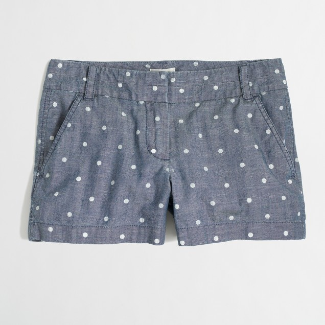 Factory dotted chambray short