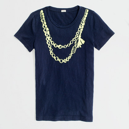 Factory necklace graphic tee