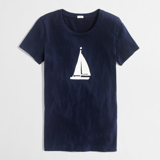 Factory sailboat graphic tee