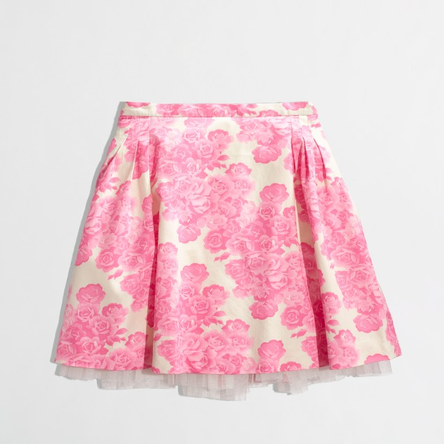 Factory girls' printed tulle skirt