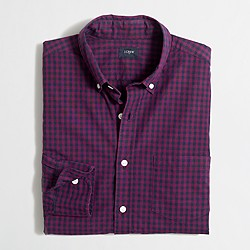 Factory washed shirt in two-tone gingham