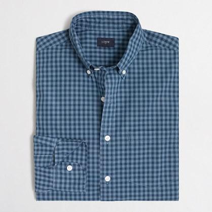 Patterned washed shirt