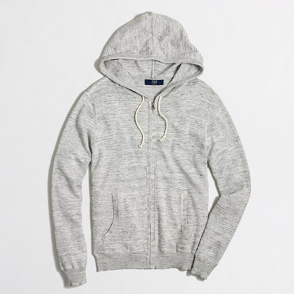 Tall heathered full-zip hoodie