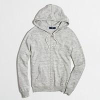 Tall heathered full-zip hoodie