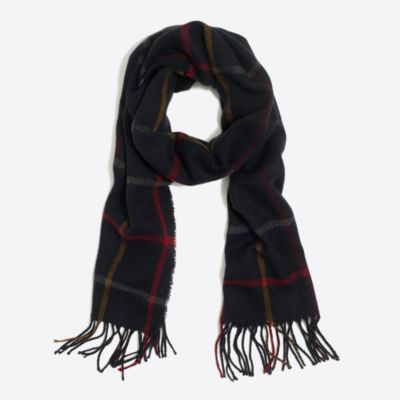 Plaid scarf factorymen accessories c