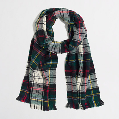 Factory plaid scarf