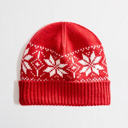 Factory snowflake Fair Isle hat
