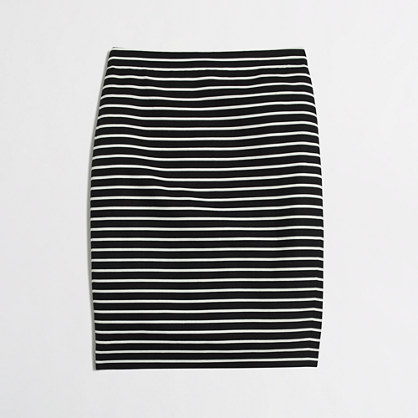 Pencil skirt in stripe