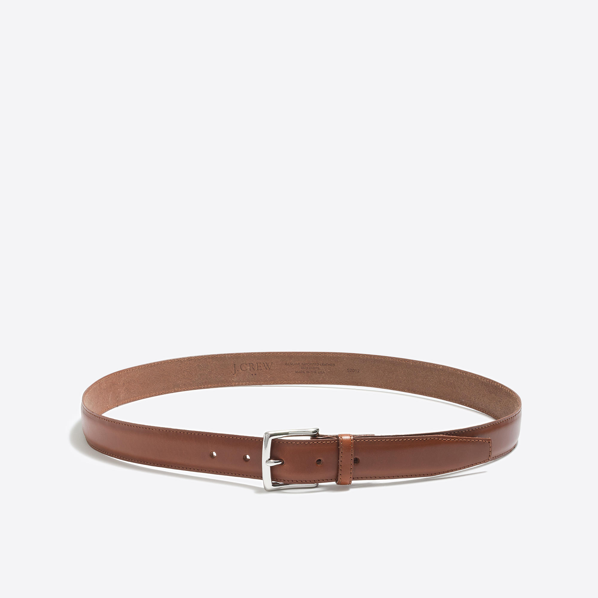 s classic leather dress belt j crew factory