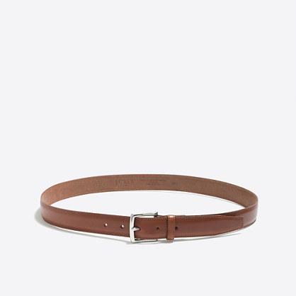 Classic leather dress belt