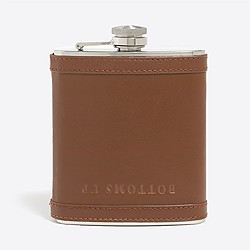 Leather bottoms-up flask