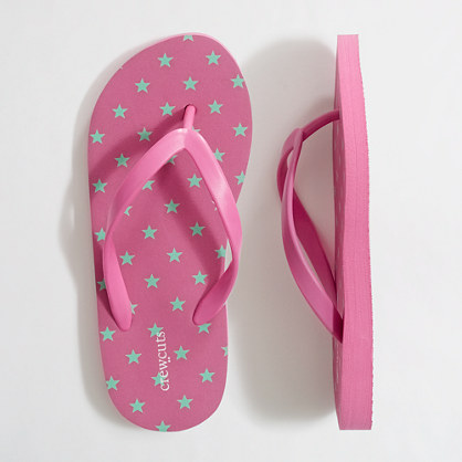 Factory girls' scattered star flip-flops