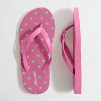 Factory girls' scattered star flip-flops