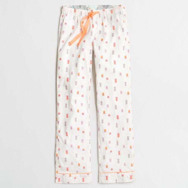 Printed flannel sleep pant