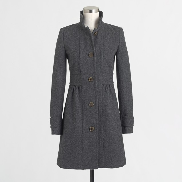 Factory skirted dress coat