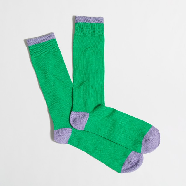 Two-color tipped socks