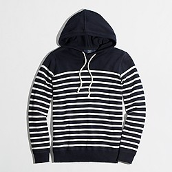 Factory striped cotton hoodie