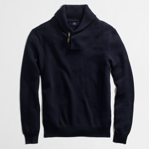 Factory toggle shawl-collar sweater