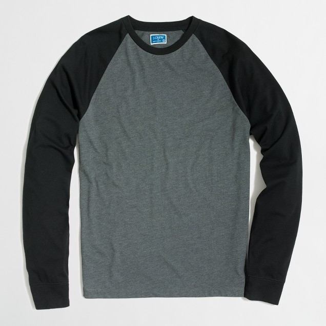 Tall long-sleeve baseball T-shirt